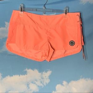 Roxy- Peach Shorts tie up the side